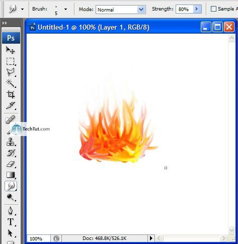 Creating flames using Adobe Photoshop