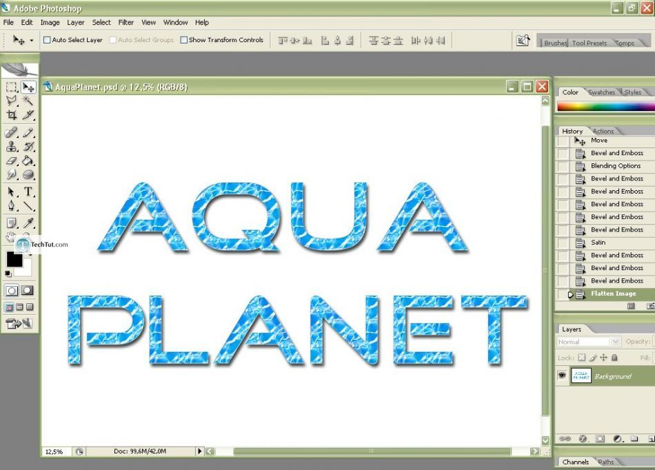Aqua planet style for text