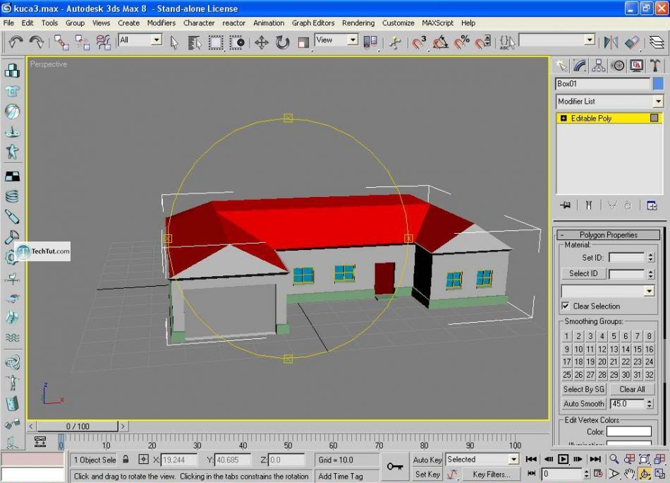 Create low poly house