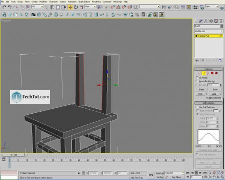Tutorial Creating a chair object in 3D max part 2 1