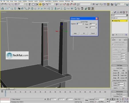 Tutorial Creating a chair object in 3D max part 2 3