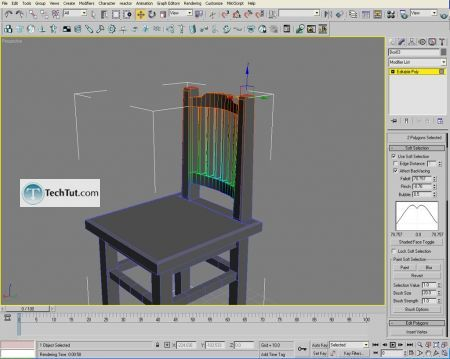 Tutorial Creating a chair object in 3D max part 2 10