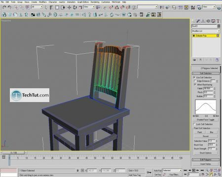 Tutorial Creating a chair object in 3D max part 2 11