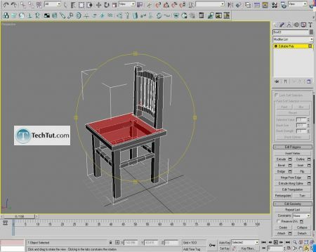 Tutorial Creating a chair object in 3D max part 2 12