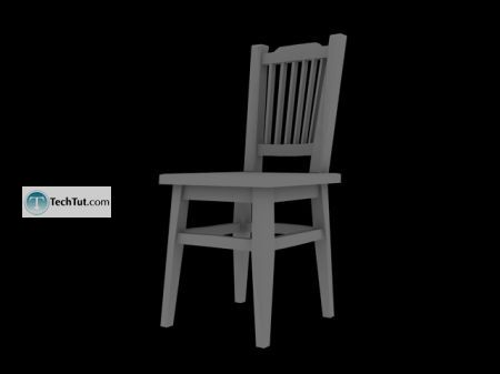 Tutorial Creating a chair object in 3D max part 2 13