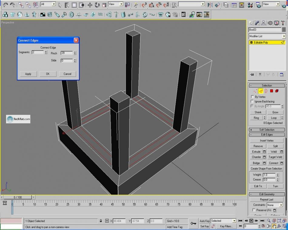 Learn how to create chair using 3D studio max