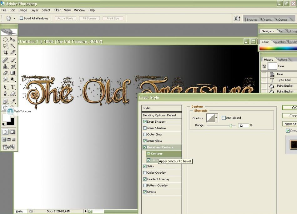 The Old Treasure Text Type in Photoshop