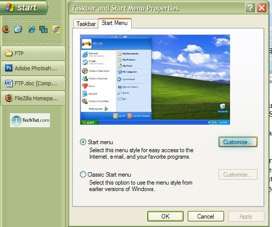 Setting up FTP in windows XP