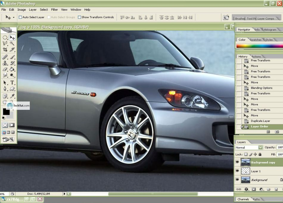 Car tuning photoshop tutorial replace rims