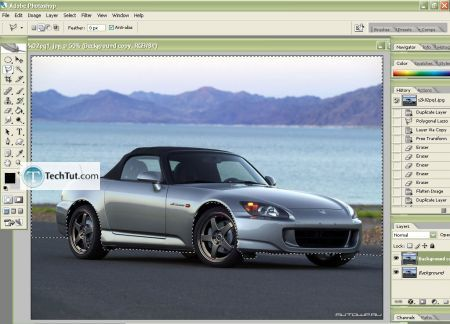 Tutorial Lowering your car in photoshop 4