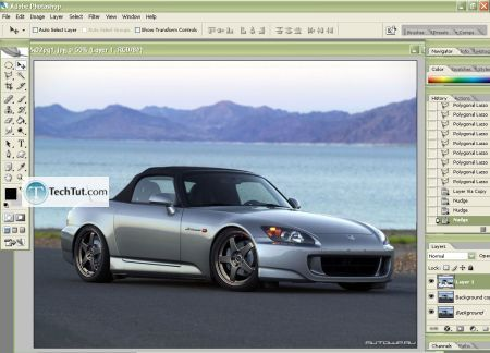 Tutorial Lowering your car in photoshop 1