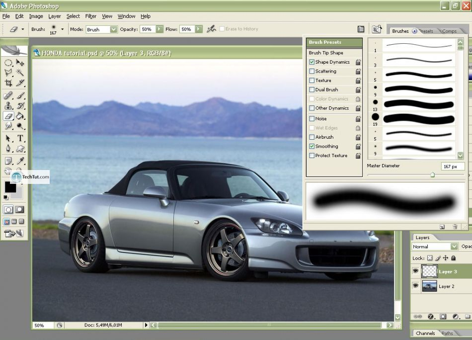 Car tuning photoshop tutorial remove antenna