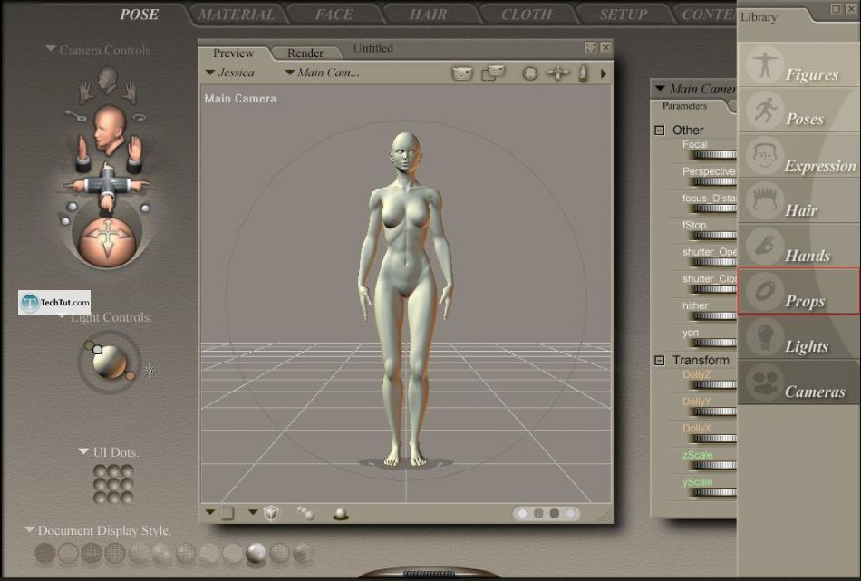 Working with clothes in Poser