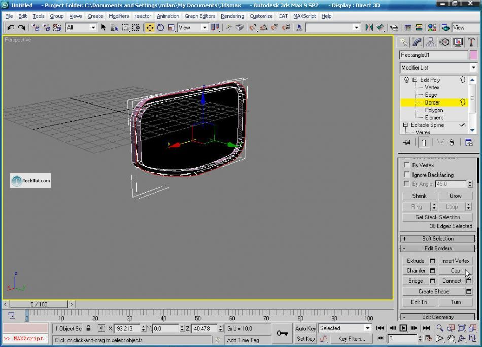 How to create glasses in 3D max