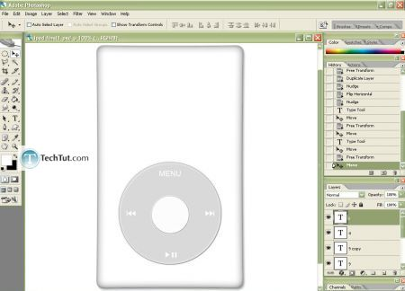 Tutorial Create iPod using Photoshop part 2 9