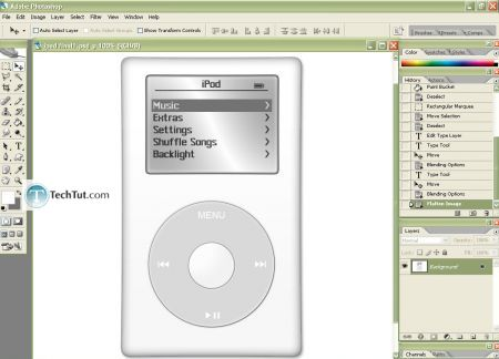Tutorial Create iPod using Photoshop part 4 2