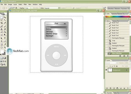 Tutorial Create iPod using Photoshop part 4 3