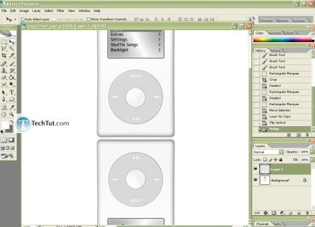 Tutorial Create iPod using Photoshop part 4 4