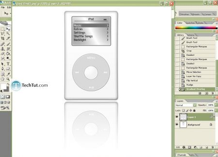 Tutorial Create iPod using Photoshop part 4 5