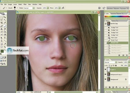 Tutorial Photo retouch add makeup using photoshop 5