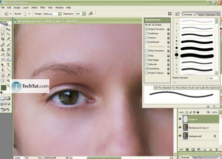 Tutorial Makeup retouch and finelize photo and skin correction 3