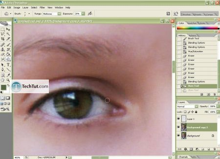 Tutorial Makeup retouch and finelize photo and skin correction 4