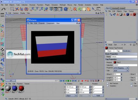 Tutorial Use materials for the flag 9